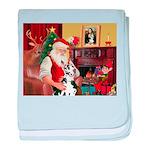 Santa's Great Dane (H) baby blanket