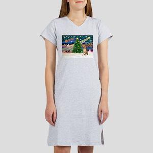 Xmas Magic & Gr Dane Women's Nightshirt