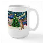 Xmas Magic & Gr Dane Large Mug