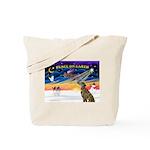 XmasSunrise/Greyhound (brin) Tote Bag