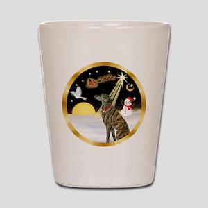 Night Flight/Greyhound (brin) Shot Glass