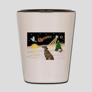 Night Flight/Greyhound (brin0 Shot Glass