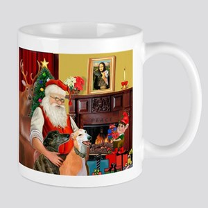 Santa's Greyhound pair Mug