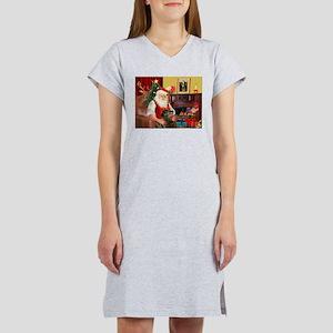Santa's Greyhound(brin) Women's Nightshirt