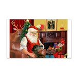 Santa's Greyhound(brin) 22x14 Wall Peel