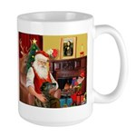 Santa's Greyhound(brin) Large Mug