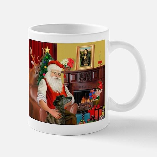 Santa's Greyhound(brin) Mug