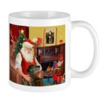 Santa's Greyhound(brin) Mug
