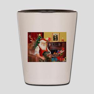 Santa's Greyhound(brin) Shot Glass