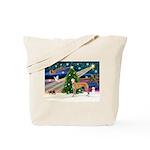 XmasMagic/Greyhound (rd) Tote Bag