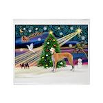 XmasMagic/Greyhound (rd) Throw Blanket