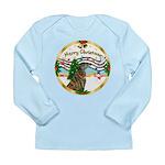 XmasMusic1MC/Greyhound Long Sleeve Infant T-Shirt