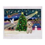 XmasMagic/Havanese pup Throw Blanket