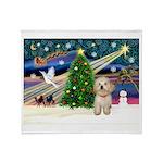 XmasMagic/Havanese pup Throw Blanket