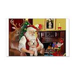 Santa's Havanese Puppy 22x14 Wall Peel