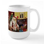 Santa's Havanese Puppy Large Mug