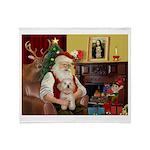 Santa's Havanese Puppy Throw Blanket