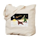 Night Flight/Irish Setter Tote Bag