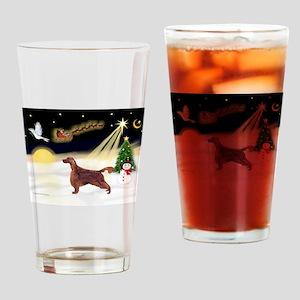 Night Flight/Irish Setter Drinking Glass