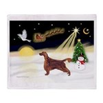 Night Flight/Irish Setter Throw Blanket