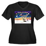 XmasSunrise/4 Ital Greyhounds Women's Plus Size V-