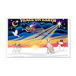 XmasSunrise/Ital Greyhound 22x14 Wall Peel