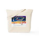 XmasSunrise/Ital Greyhound Tote Bag