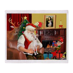 Santa's Ital Greyhound Throw Blanket
