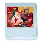 Santa's Ital Greyhound baby blanket