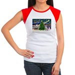 XmasMagic/Ital.Greyt1 Women's Cap Sleeve T-Shirt