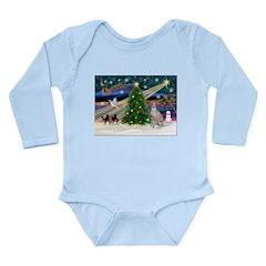 XmasMagic/Ital.Greyt1 Long Sleeve Infant Bodysuit