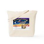 3 Spinones Tote Bag