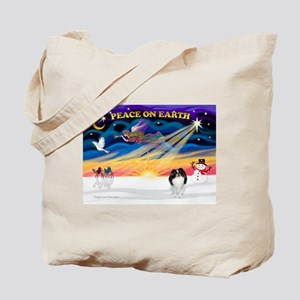 XmasSunrise/Jap Chin Tote Bag