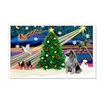 Xmas Magic & Keeshond 22x14 Wall Peel