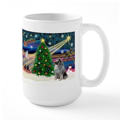 Xmas Magic & Keeshond Large Mug