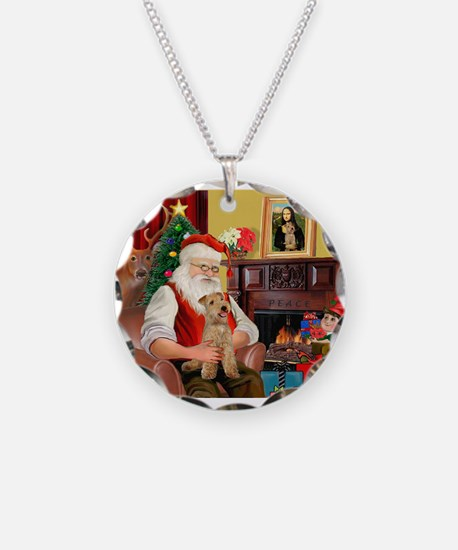 Santa/Lakeland Terrier Necklace