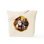 Santa's Lab (blk)#1 Tote Bag