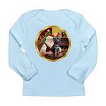 Santa's Lab (blk)#1 Long Sleeve Infant T-Shirt