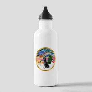 XmasMagic/Lab (black) Stainless Water Bottle 1.0L