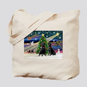 Xmas Magic & Lab PR Tote Bag