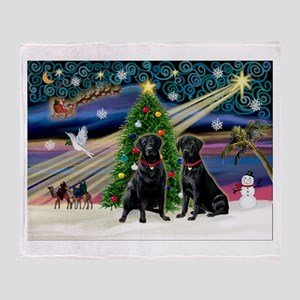 Xmas Magic & Lab PR Throw Blanket