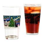 Xmas Magic & Black Lab Drinking Glass