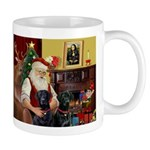 Santa's 2 Black Labs Mug