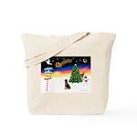 XmasSigns/Lab (choc) Tote Bag