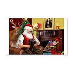 Santa's Chocolate Lab 22x14 Wall Peel