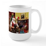 Santa's Chocolate Lab Large Mug