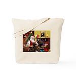 Santa's Chocolate Lab Tote Bag