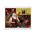 Santa's Chocolate Lab Throw Blanket