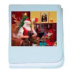 Santa's Chocolate Lab baby blanket