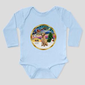 XmasMagic/Lab (yllow) Long Sleeve Infant Bodysuit